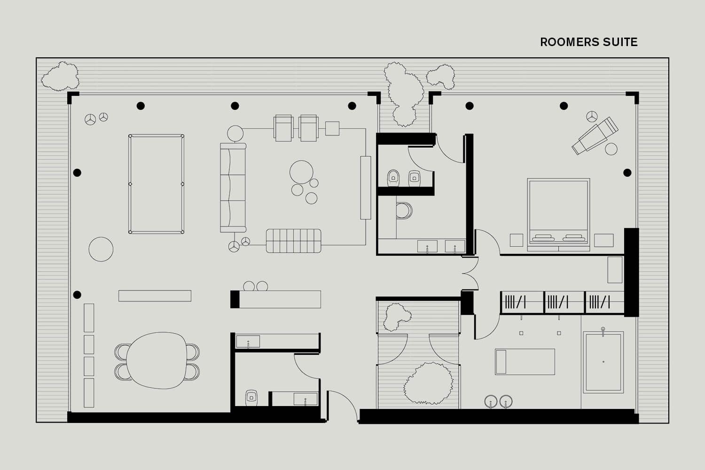 Roomers Baden-Baden Floorplan Roomers Suite