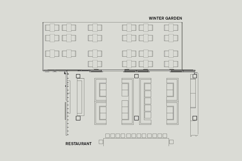 Roomers Frankfurt Floorplan Winter Garden Restaurant