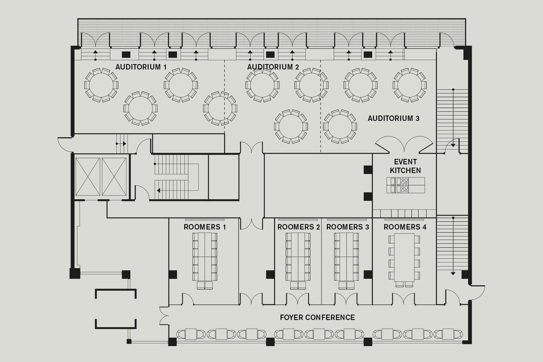 Roomers Munich Floorplan Overview