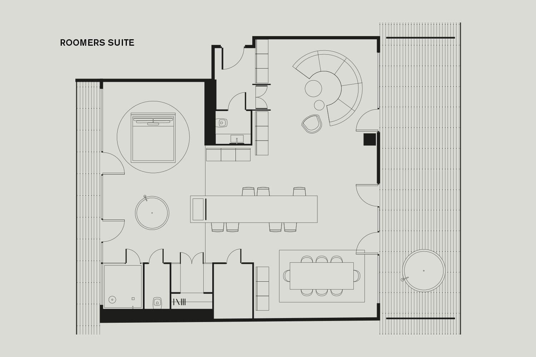 Roomers Munich Floorplan Roomers Suite
